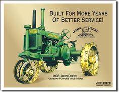 John Deere 1933 Tin Sign