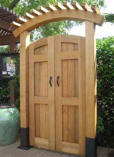 Garden Door Photos Berco Redwood - All For Backyard Ideas Cedar Gate, Wooden Garden Gate, Wooden Gates, Backyard Gates, Garden Gates And Fencing, Fence Gates, Side Gates, Backyard Privacy, Fence Gate Design