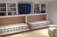 Hidden bed in basement