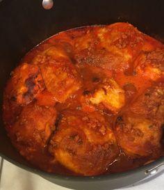 Coliflor capeada en salsa de guajillo!