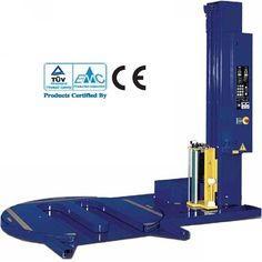 Automatic pallet wrapping packaging machine no need either for floor modifications or for a ramp