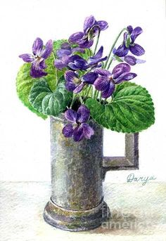 wild violet painting images | Wild Violettes Painting by Darya Tsaptsyna - Wild Violettes Fine Art ...