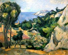 [Not discussed in book] Paul Cezanne (French, L'Estaque, Oil on Canvas; New York: Museum of Modern Art, Found by: Victoria Cezanne Art, Paul Cezanne Paintings, Land Art, Art Français, Royal Academy Of Arts, Museum Of Modern Art, French Artists, Moma, Art World