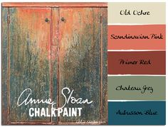 Colorways: Jams and Jellies.  Incredible color in this distressed cabinet.