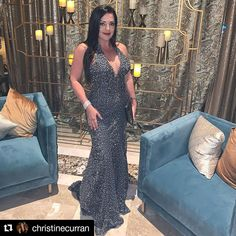 Christine Curran is gorgeous wearing Zola Keller at Holiday Dresses, Bride Groom, Bridal Gowns, Special Occasion, Evening Dresses, Formal, How To Wear, Tv, Fashion