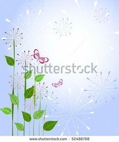 pattern with dandelions - stock vector