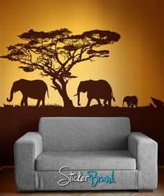 African Safari Tree Wall Decal Nursery Baby Kids Living Room Home Decor Art Sticker Removable Branches | Pinterest | African safari Nurseries baby and Wall ... & African Safari Tree Wall Decal Nursery Baby Kids Living Room Home ...