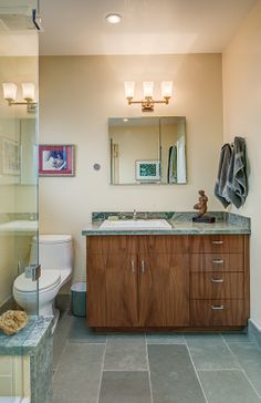 Berkeley Hills | No aspect of this house was left untouched, including this master bath suite. | By Conscious Construction (consciousconstruction.com).
