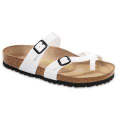 4c63355ae197 BIRKENSTOCK® Mayari White lack Toe Loop Sandals