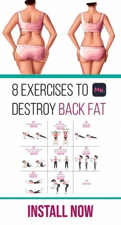 Back Fat Workout, At Home Workout Plan, At Home Workouts, Back Fat Exercises At Home, Lower Back Exercises, Ab Exercises, Workout Plans, Weight Exercises, Tummy Workout