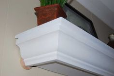 My Creative Escapes - photography, crafting, DIY and more: DIY Crown Molding Shelf