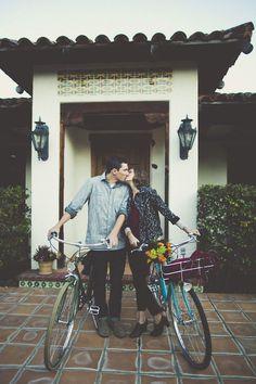Cute bicycle engagement shoot | Sarah Kathleen Photography | Bridal Musings Wedding Blog 10