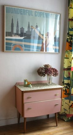 commode-paillettes-or
