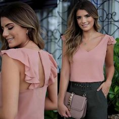 Swans Style is the top online fashion store for women. Blouse Patterns, Blouse Designs, Sewing Blouses, Mode Top, Mode Chic, Cute Blouses, Trendy Tops, Blouse Styles, Fashion Dresses