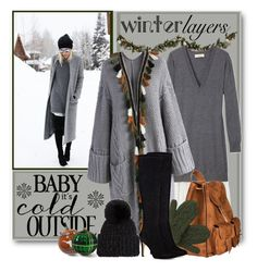 """""""Winter Layers"""" by brendariley-1 ❤ liked on Polyvore featuring Damsel in a Dress, Improvements, Candela, Chicwish, Yves Saint Laurent, Laundromat, Nine West, Eugenia Kim, Lands' End and The Memory Company"""