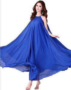 1 Women Blue Long Maxi Formal Summer Beach Evening Party dress Plus Size 18W-20W
