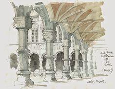 From September 10 to 13, European sketchers in Liège (Belgium)