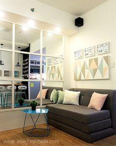 21 Ideas apartment small spaces decorating fit for 2019 Condo Interior Design, Small Space Interior Design, Condo Design, Apartment Design, Apartment Ideas, Diy Interior, Small Condo Decorating, Small Condo Living, Condominium Interior