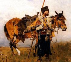 Mounted Cossack Warrior