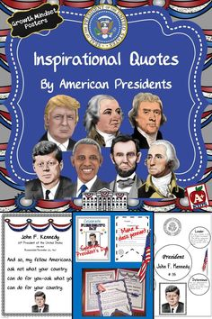 Inspire your students with this growing bundle of Presidential Quotes. Printables are included to further your students' understanding of the presidents and the era they lived. Perfect for President's Day or every other day to initiate discourse and accent your classroom.