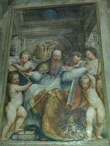 Madonna di Campagna. Sant'Agostino. Ante 1536