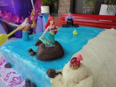 Little Mermaid cake ~ cute and well done, love the sand! Krissy :) ~