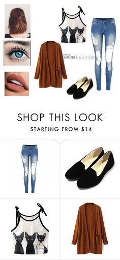 """""""Feline Fashion Entry"""" by aquacie ❤ liked on Polyvore featuring Clairol, Sephora Collection and felinefashion"""