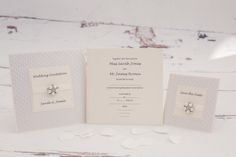 Crystals and Pearls, Wedding Invitations. This is a classical yet luxury range.
