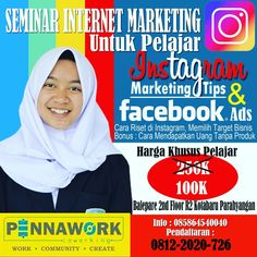 Seminar internet marketing dan bisnis online di Bandung, Instagram Marketing dan Facebook Marketing, Cimahi, Padalarang, Banjaran, Baleendah, Majalaya, Ciparay, Soreang dll