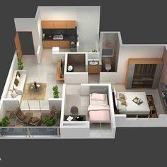 House Floor Design, Sims 4 House Design, Home Design Floor Plans, Small House Design, Home Room Design, Modern House Design, Sims House Plans, House Layout Plans, Small House Plans