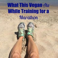 Take a look at what a well balanced, healthy plant-based diet looks like when your'e training for a marathon.