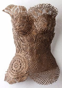 Doilies used to make a corset top