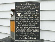 Disney Rules In This House We Do Disney House Rules Family Rules Rustic Wood Sign - ORIGINAL wording - 16x24 Handpainted Carved Rules Sign by RusticPineDesigns on Etsy https://www.etsy.com/ca/listing/266543968/disney-rules-in-this-house-we-do-disney