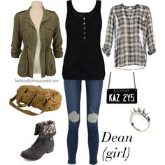 Dean Winchester (girl) by winterlake25 on Polyvore featuring polyvore, fashion, style, Mogul, Joie, Frame Denim, Charlotte Russe, VIPARO and Alexander McQueen