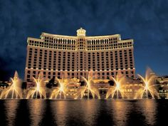An eight-and-a-half-acre manmade lake dominates the grounds of this casino-resort, which erupts into a dazzling choreographed fountain display every 15 to 30 minutes. But you have to go inside the Bellagio for the real glamour.