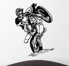 topdesignshop Wandtattoo Aufkleber und Gravuren Shop - Wandtattoo Motorcross Maschine Aufkleber