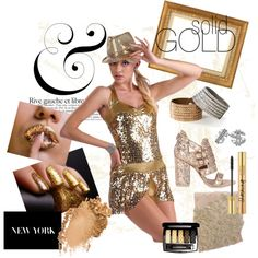 Solid Gold, created by awishcometrue on Polyvore