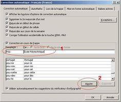Utilisez la correction automatique pour accélerer la saisie du texe excel