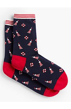 Light House Trouser Socks - Talbots