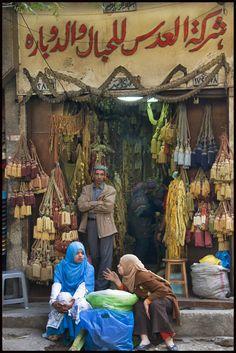 Cairo street scene  - saw many scenes like this around the souks in Cairo