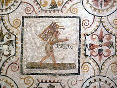 A Roman mosaic from the ancient Thysdro with illustrations of twelve months Πηγή: www.lifo.gr