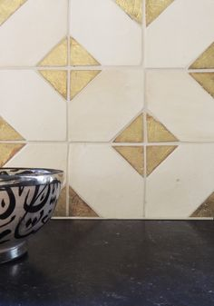 Byzantine 2 Kitchen Backsplash By Tabarka Studio. i could recreate with white and gold paint with painters tape Bathroom Floor Tiles, Kitchen Flooring, Kitchen Backsplash, Backsplash Cheap, Rustic Backsplash, Paint Bathroom, Copper Bathroom, Blue Backsplash, Basement Bathroom