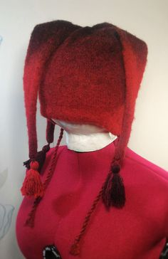 NEW SALE Multi-colored winter hat with three tails by LanaNere