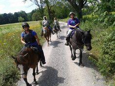 Trail riders at Basha Kill. PHOTO BY DEBBIE SCHIRALDI