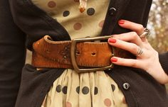 great belt and who doesn't love polka dots?
