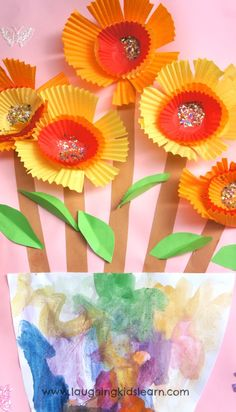Pretty spring flowers using paper cupcake liners