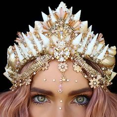 Peachy . . . #mermaidlife #peach #shellcrown