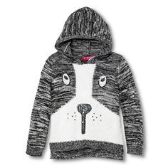 Toddler Girls' U-Knit Hooded Puppy Sweater