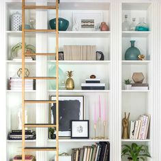 How to style a bookshelf - tips and tricks on how to style a beautiful shelving unit -  Cuckoo4Design