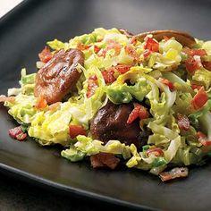 Tuscan Cabbage & Mushrooms Recipe gailmencini.com